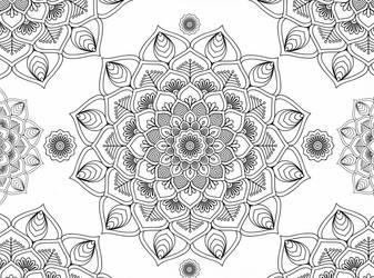 Mandala Flowers 01 Blank Template by Shuey