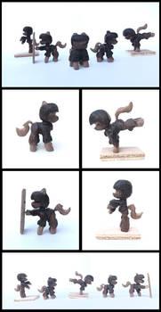 SWATCon Ponies in Walnut by xofox