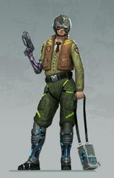 Cyberpunk Pilot by TestosteronMan