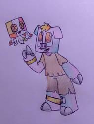 ZombiePigMan and PatchworkGhast by RainbowDragon14