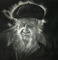 Old man wearing beret by shonechacko