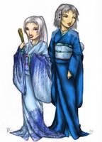 Doji Asami and Daidoji Juri by Faily-chan