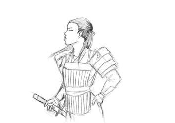 Bayushi commander WIP by Faily-chan