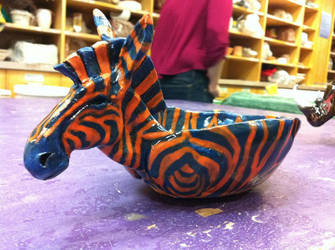 Zebra Bowl by EmCramer