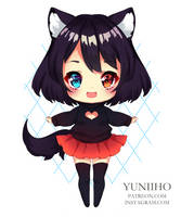 Chibi for Abby.Moon by Yuniiho
