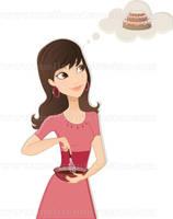 Cooking Girl by Melisendevector