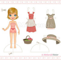 Cut Out Paper Doll by Melisendevector