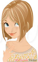 Blonde Girl Haircut Blog by Melisendevector