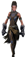 Black Panther Shuri PNG by Metropolis-Hero1125