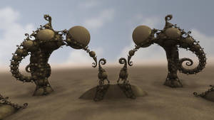 Gate of the Desert Dwellers by batjorge