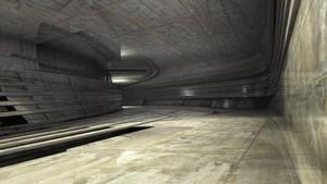 Spaceship Corridors by batjorge