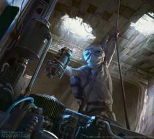Star Wars Destiny Rey Illustration by AldoK
