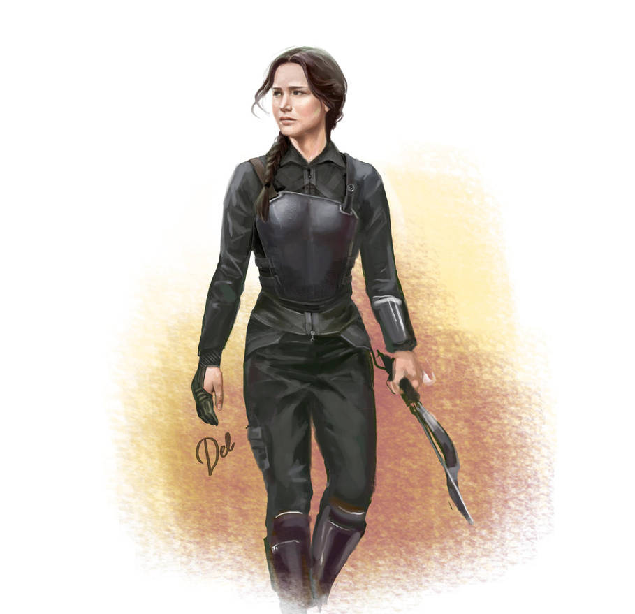 Katniss by Ngaladel