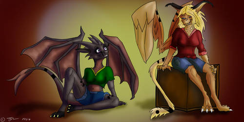 Gift art for Ilkyra and Aliska by HopsWatch92