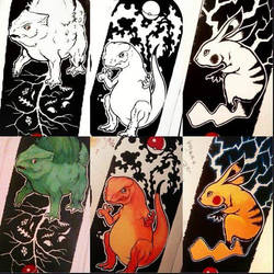Pokemon tattoo flash by Martin-Krieger