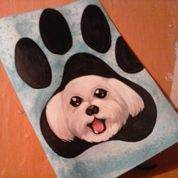 Dog greeting card by Martin-Krieger