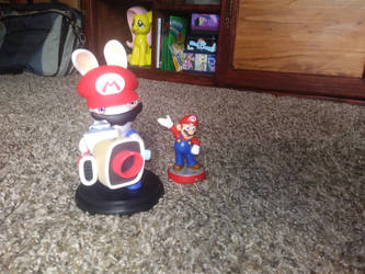 Mario is a rabbid now by TurboGamer98