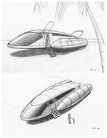 Space Runabout concept sketches page 1 of 2 by JamesF63