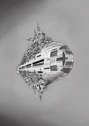 Starship Cruise Liner Darryl Anka by JamesF63