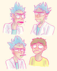 *burps* we gotta...we gotta do the th-thing, morty by munchkinkit