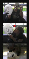 Scared balloon by HanHan