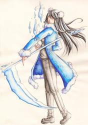 Rachel with scythe--Han1 by HanHan