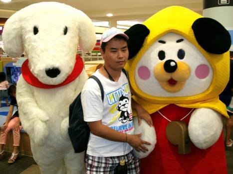 Happy Waon and Ji-jyo and me by yellowmocha