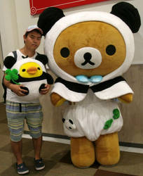 Rilakkuma meets Panda de goron and me 2 by yellowmocha