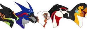 Main Cast by FizzGryphon