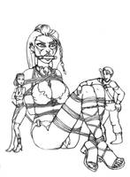 Captured Giantess by LouisTarado
