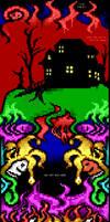 Masquerade BBS logoff screen by binarywalker