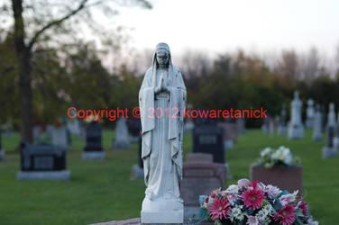 A walk at the cemetery: I: Virgin Mary by KowaretaNick