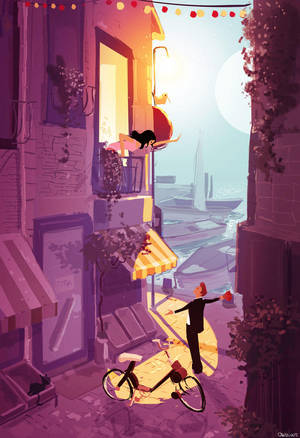 Romeo, Juliette and a Solex by PascalCampion