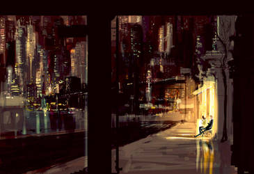 And we sat, and we talked, and the world went by. by PascalCampion