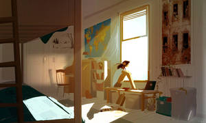 There is a breeze coming through the window by PascalCampion
