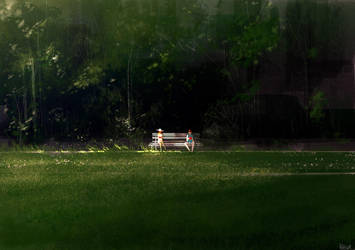 Park benches and good books. by PascalCampion