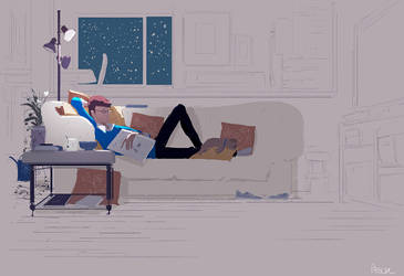 Couch potatoeing by PascalCampion