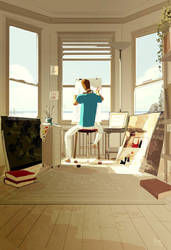 Do not disturb, Artist at work. by PascalCampion