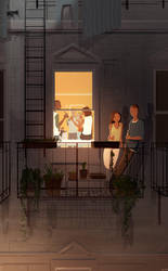 Summer nights in the city...with friends. by PascalCampion