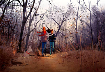 Long walks in the fall. by PascalCampion