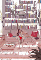 Meet me behind the bookshelf. by PascalCampion