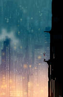 Two spiders on a wall by PascalCampion