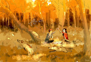 It s a pic nic. by PascalCampion