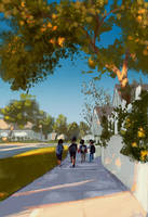 Walking to school. by PascalCampion