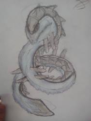 the mysterious monster by Jiku-san