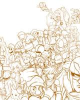Brawl sketch by Bonus-kun