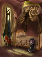 Bed Curtain and Moonlight 2 by Reisetyun