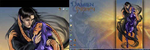 'Sun Meets Dark' Desk by ladyofdragons