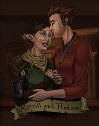 Hawke and Merrill by ladyofdragons