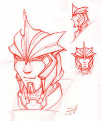 IDW Knock Out Sketch by ladyofdragons